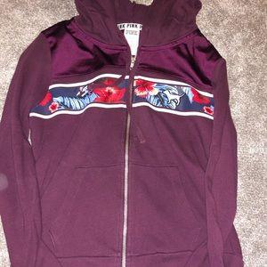 brand new pink zip up sweatshirt